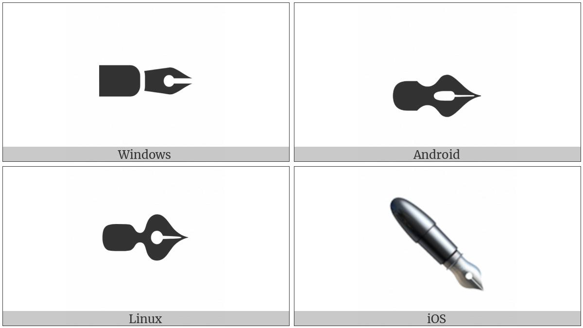 Black Nib on various operating systems