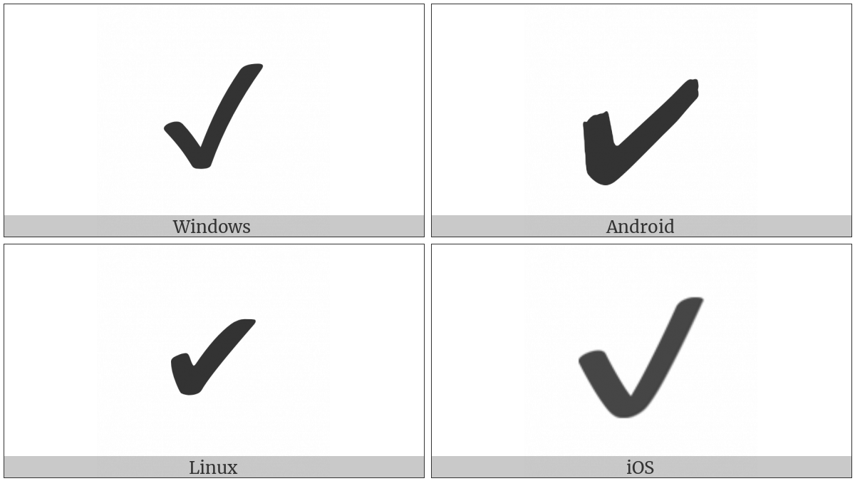 Heavy Check Mark on various operating systems