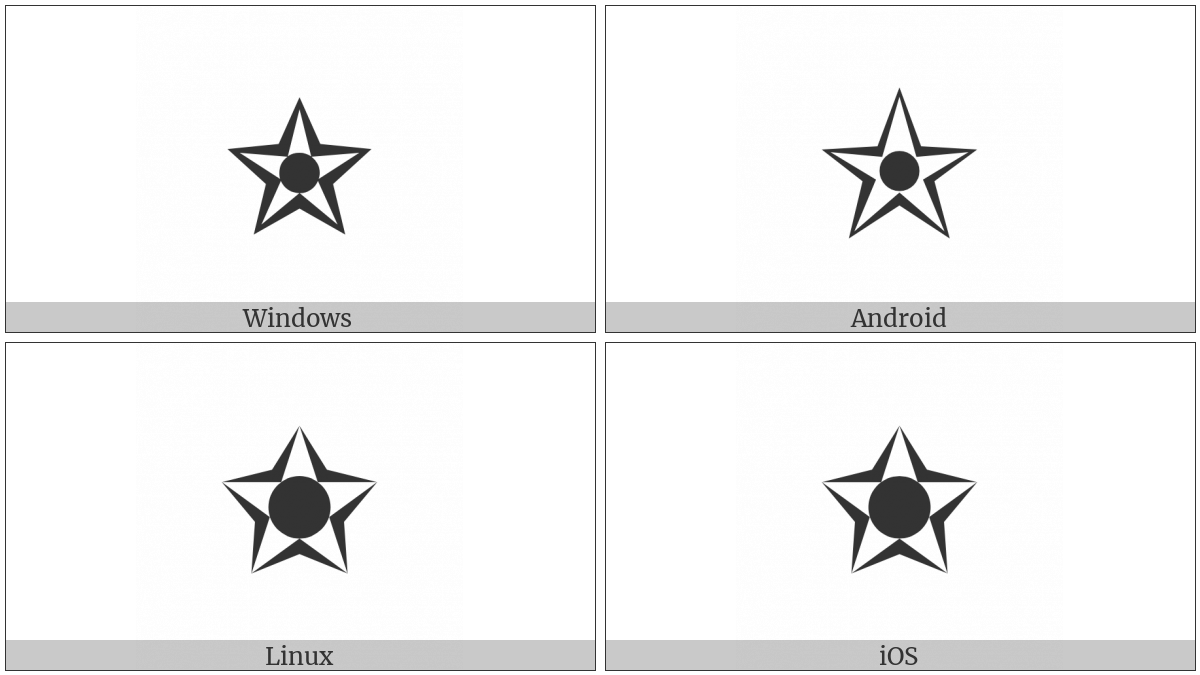 Black Centre White Star on various operating systems