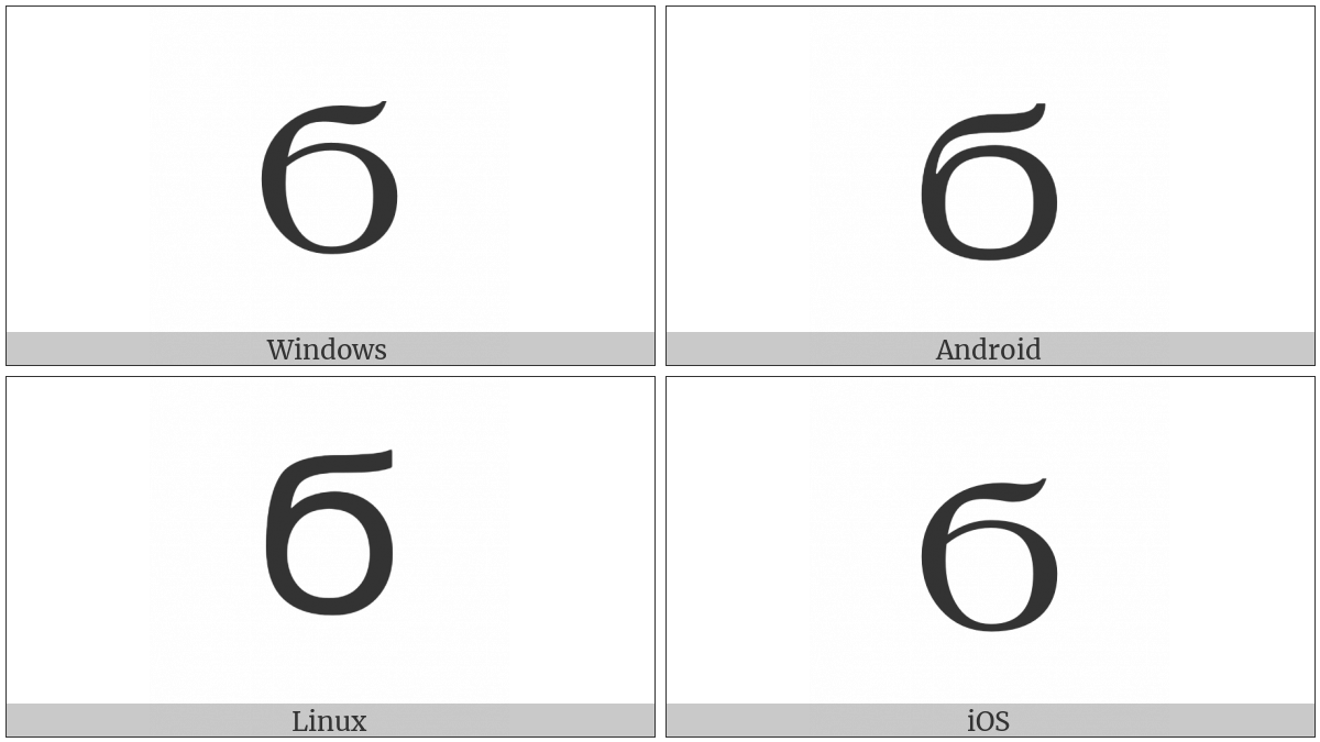 Coptic Capital Letter Shima on various operating systems