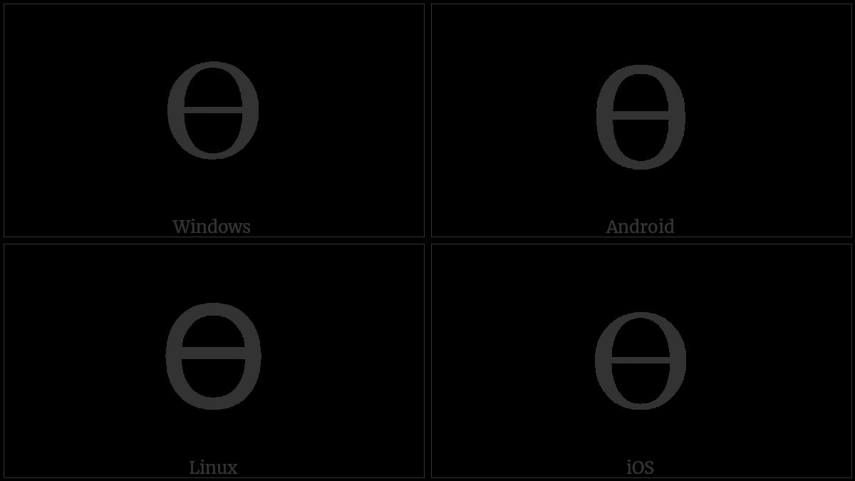 Greek Capital Theta Symbol on various operating systems