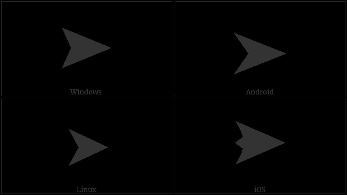 BLACK RIGHTWARDS ARROWHEAD utf-8 character