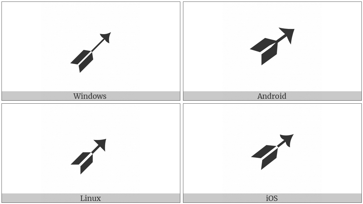 Black-Feathered North East Arrow on various operating systems