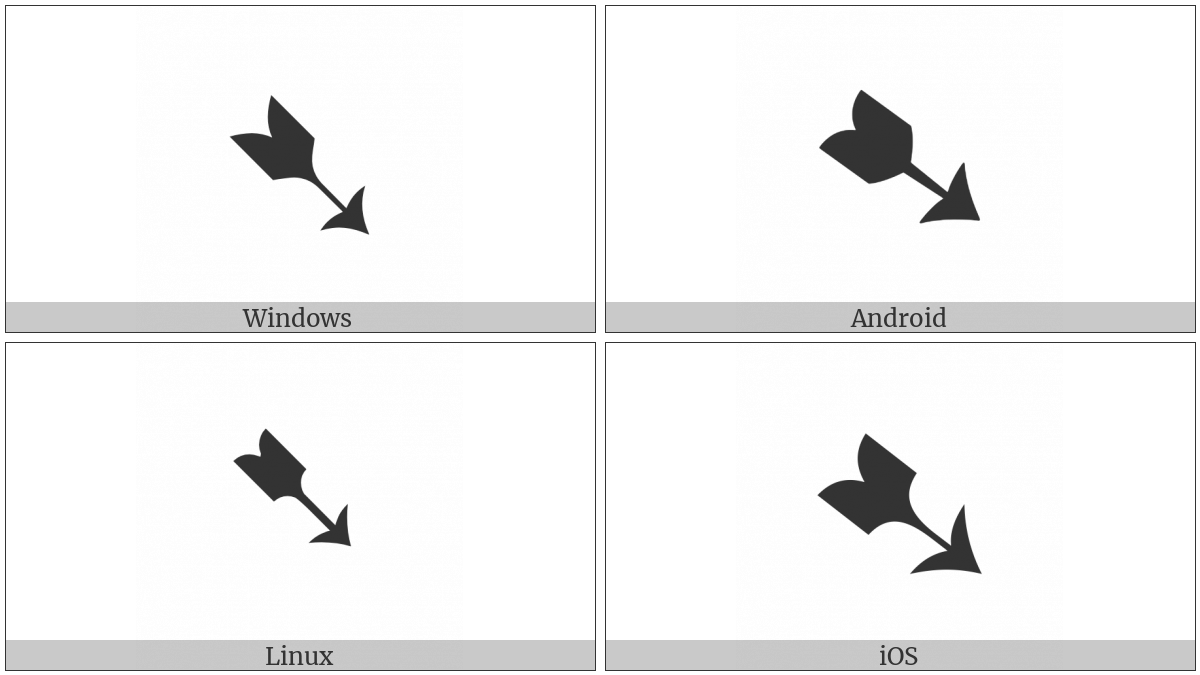 Heavy Black-Feathered South East Arrow on various operating systems