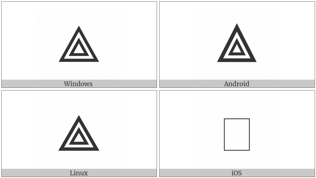 White Triangle Containing Small White Triangle on various operating systems