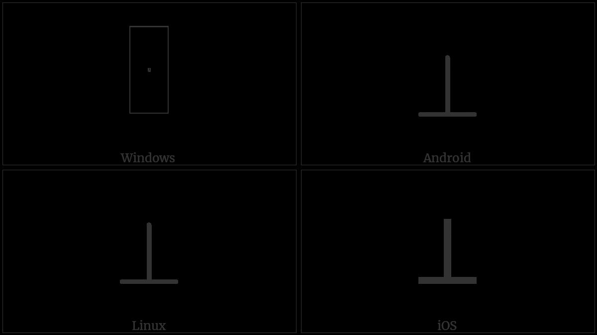 Perpendicular Utf 8 Icons