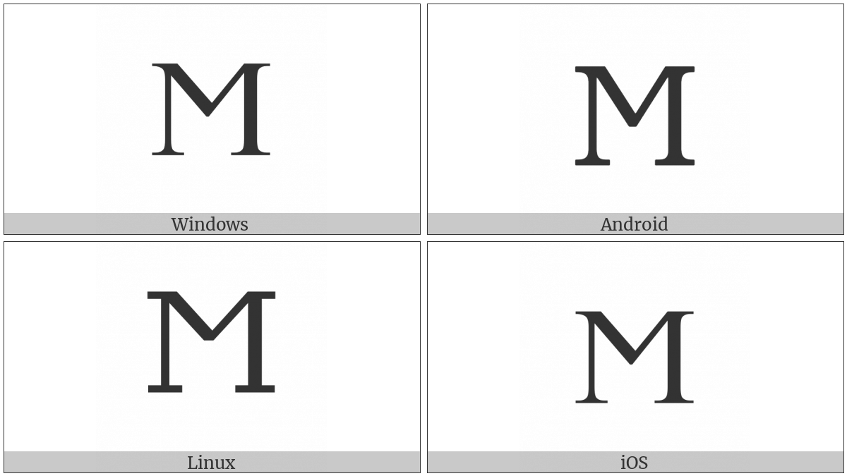 Greek Capital Letter San on various operating systems