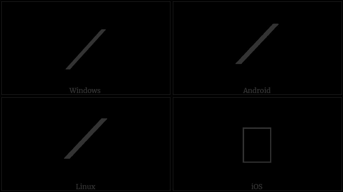 Mathematical Rising Diagonal on various operating systems