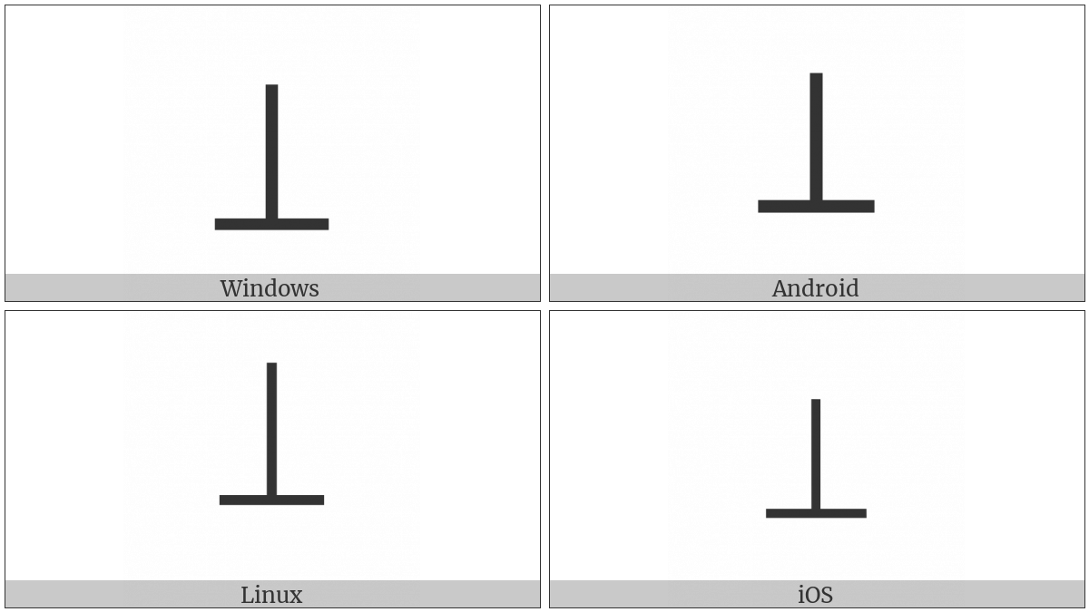 Large Up Tack on various operating systems