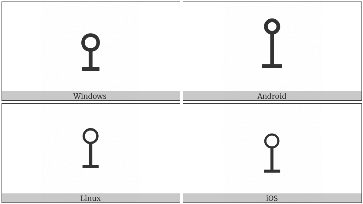Up Tack With Circle Above on various operating systems