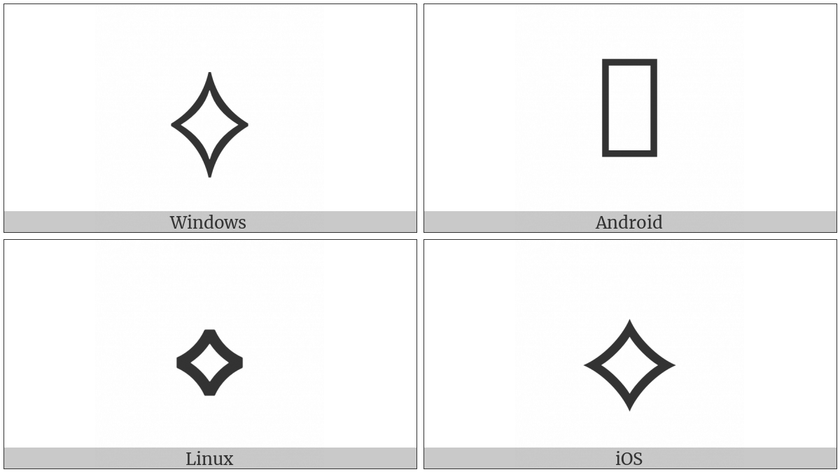 White Concave-Sided Diamond on various operating systems