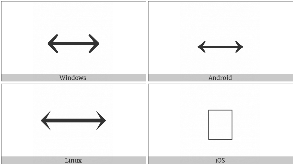 Long Left Right Arrow on various operating systems