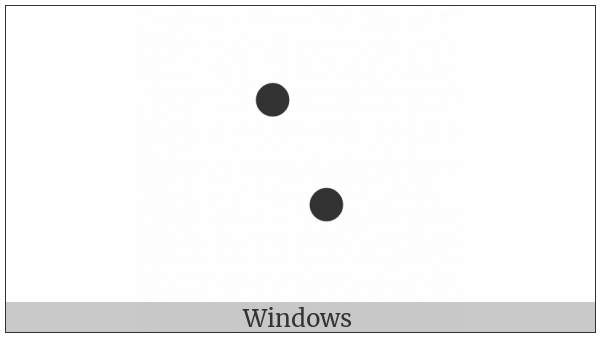Braille Pattern Dots-16 on various operating systems