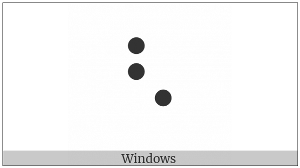 Braille Pattern Dots-126 on various operating systems
