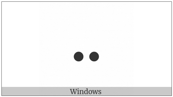 Braille Pattern Dots-36 on various operating systems
