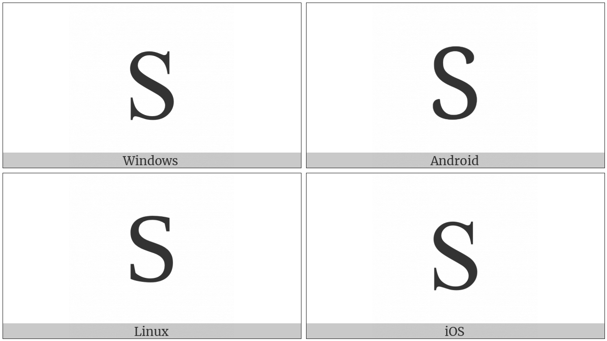 Cyrillic Capital Letter Dze on various operating systems
