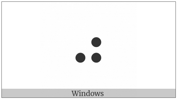 Braille Pattern Dots-356 on various operating systems