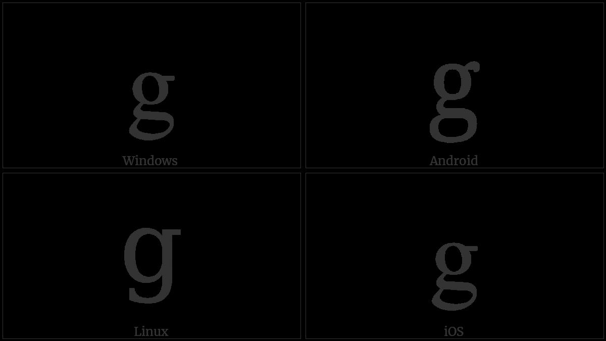 LATIN SMALL LETTER G utf-8 character