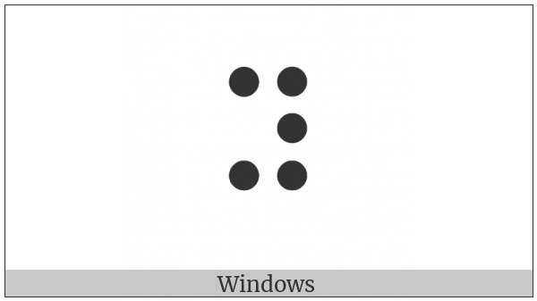 Braille Pattern Dots-13456 on various operating systems
