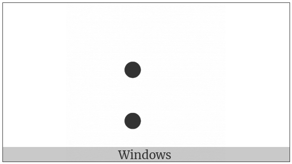 Braille Pattern Dots-27 on various operating systems