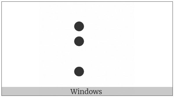 Braille Pattern Dots-127 on various operating systems