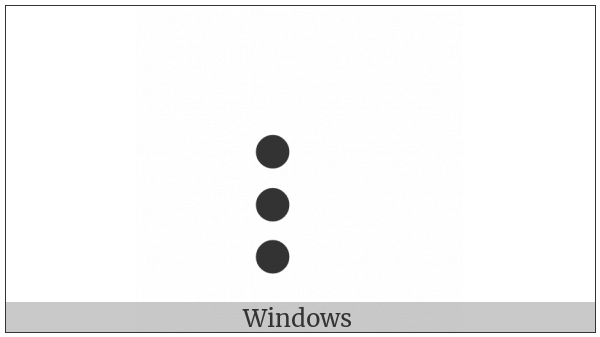 Braille Pattern Dots-237 on various operating systems