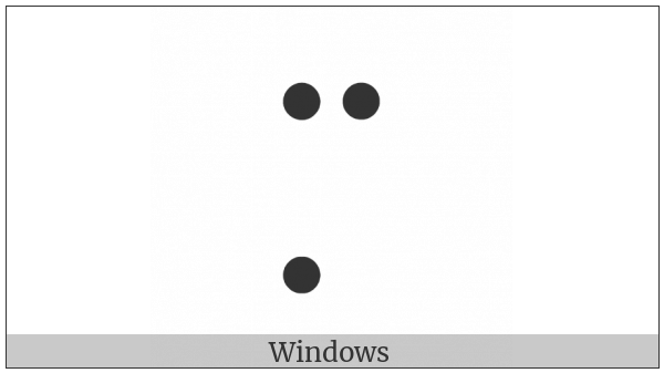 Braille Pattern Dots-147 on various operating systems