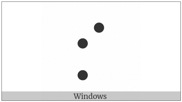 Braille Pattern Dots-247 on various operating systems