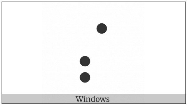 Braille Pattern Dots-347 on various operating systems