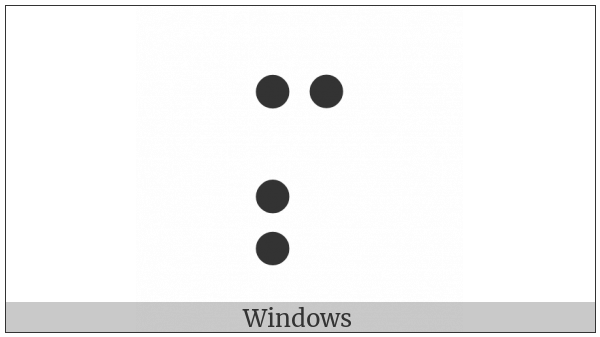 Braille Pattern Dots-1347 on various operating systems