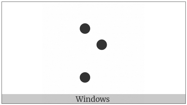 Braille Pattern Dots-157 on various operating systems
