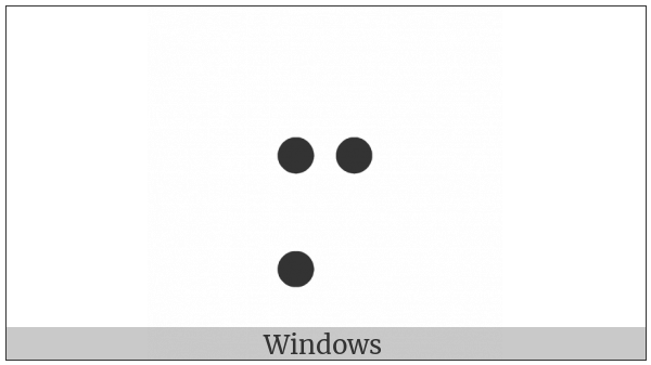 Braille Pattern Dots-257 on various operating systems