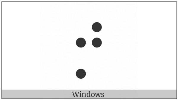 Braille Pattern Dots-2457 on various operating systems