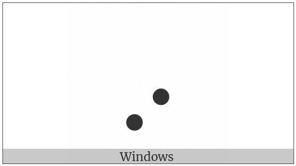 Braille Pattern Dots-67 on various operating systems