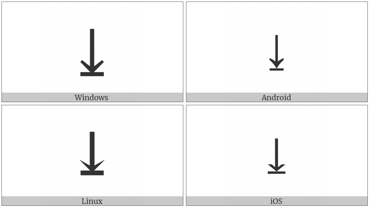 Downwards Arrow To Bar on various operating systems
