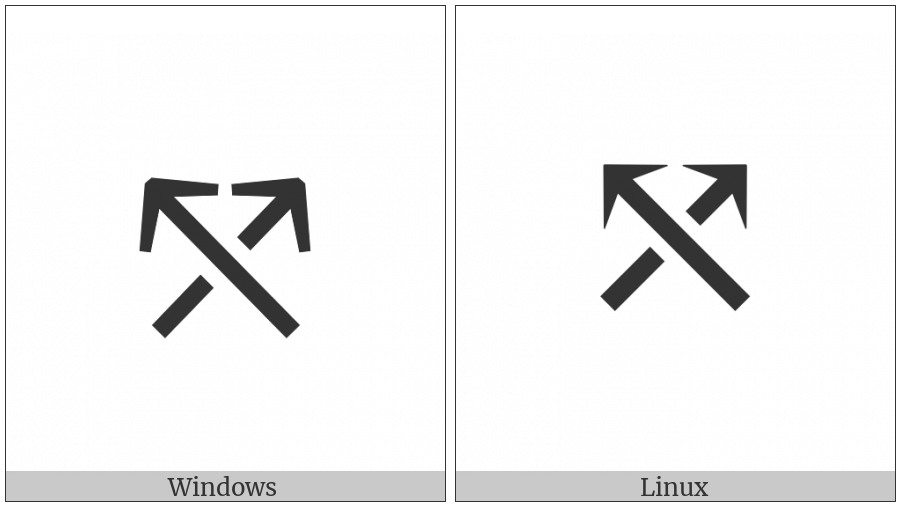 North West Arrow Crossing North East Arrow on various operating systems