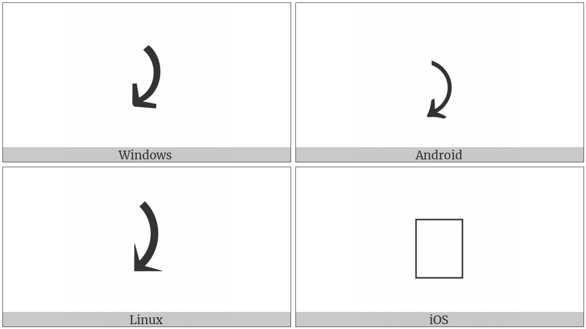 Right Side Arc Clockwise Arrow Utf 8 Icons