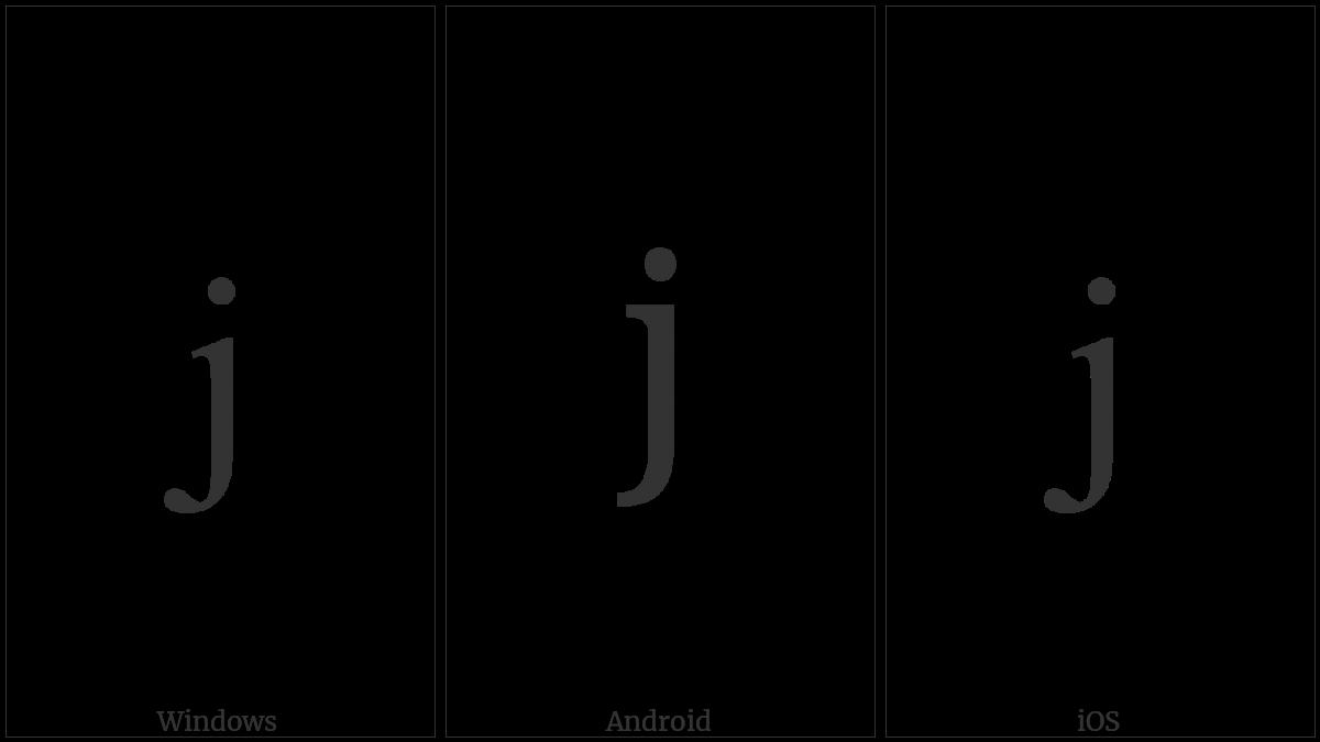 LATIN SMALL LETTER J utf-8 character