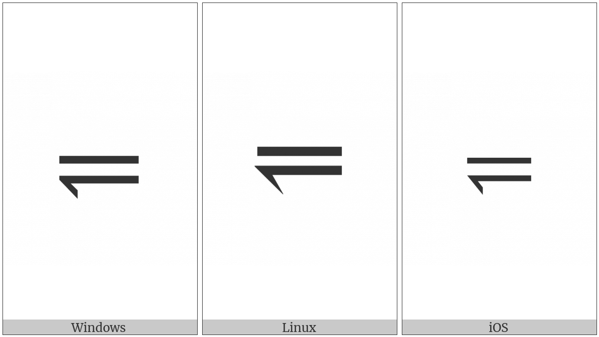 Leftwards Harpoon With Barb Down Below Long Dash Utf 8 Icons