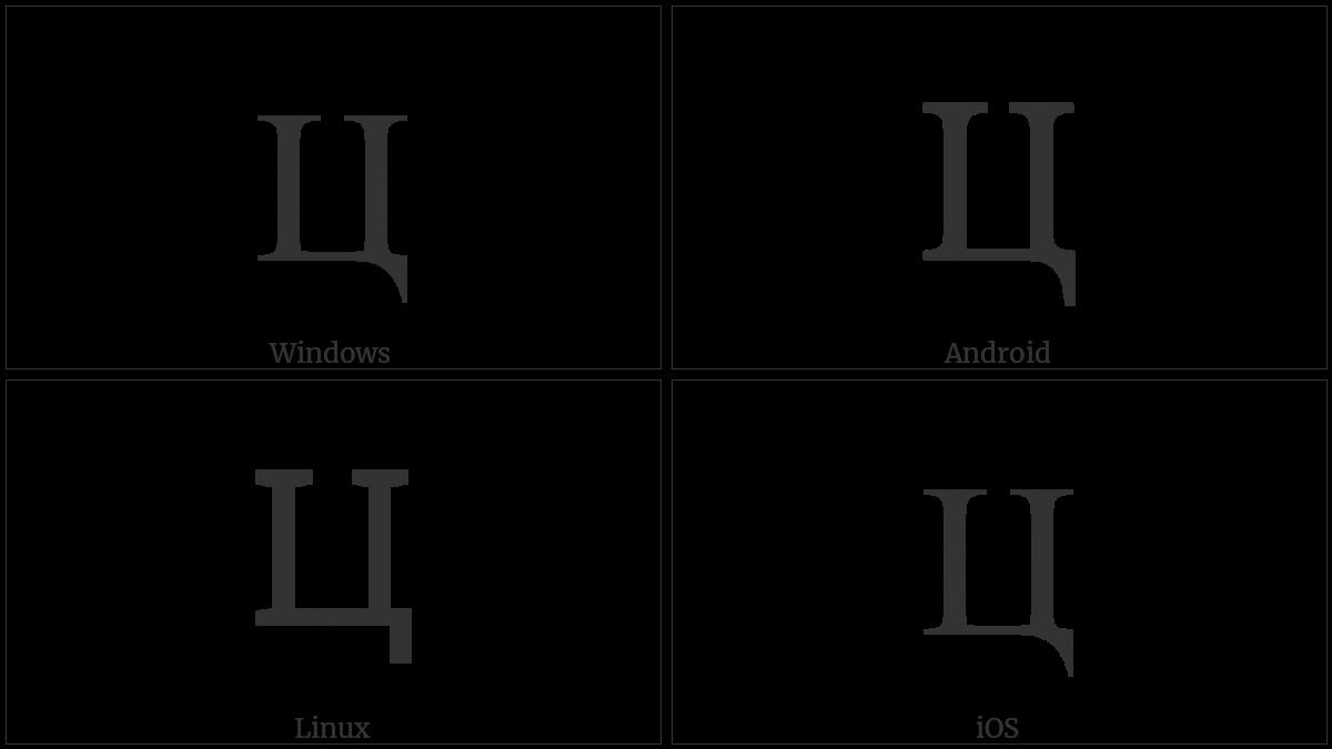 CYRILLIC CAPITAL LETTER TSE utf-8 character