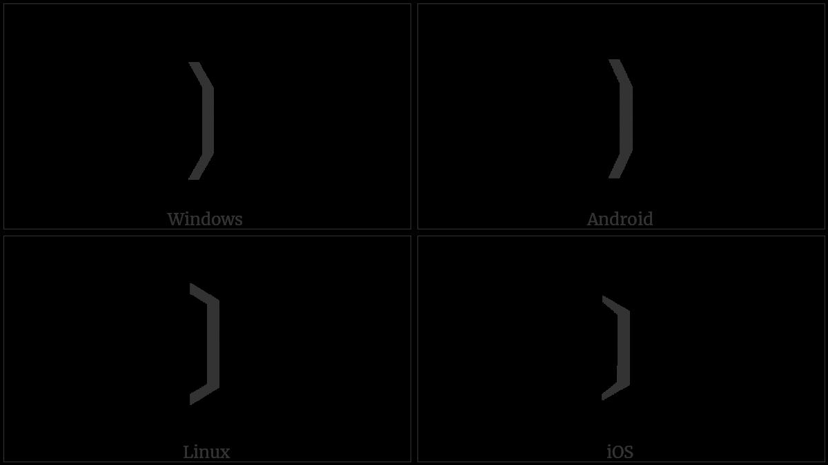 Right Black Tortoise Shell Bracket on various operating systems