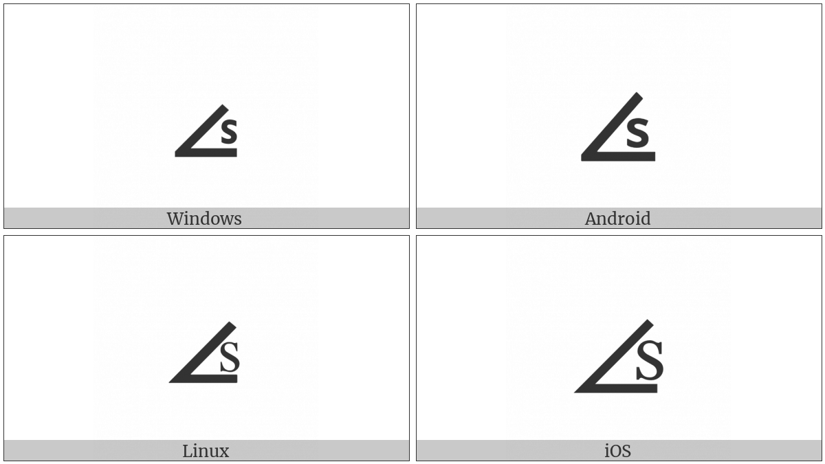 Angle With S Inside on various operating systems