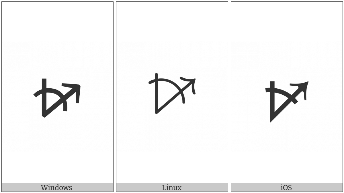 Measured Angle With Open Arm Ending In Arrow Pointing Right And Up on various operating systems