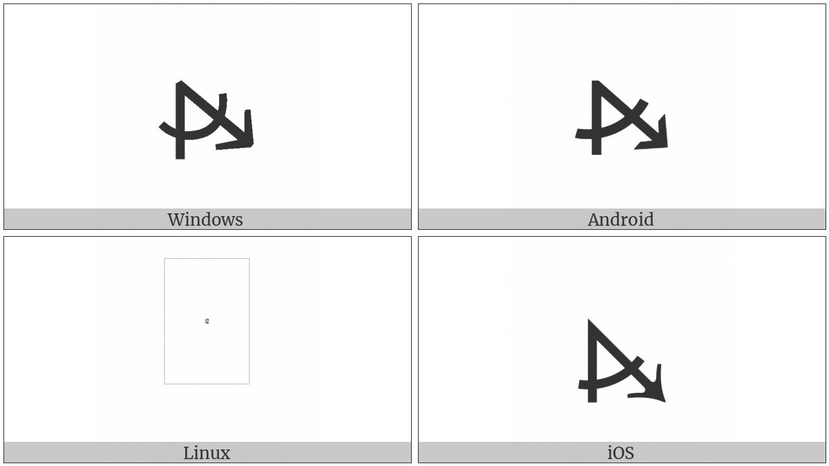 Measured Angle With Open Arm Ending In Arrow Pointing Right And Down on various operating systems