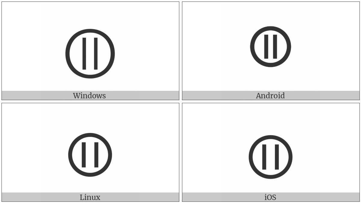 Circled Parallel on various operating systems