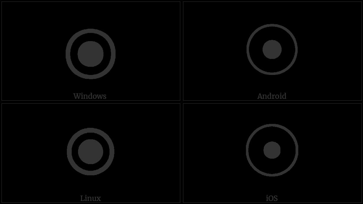 Circled Bullet Utf 8 Icons