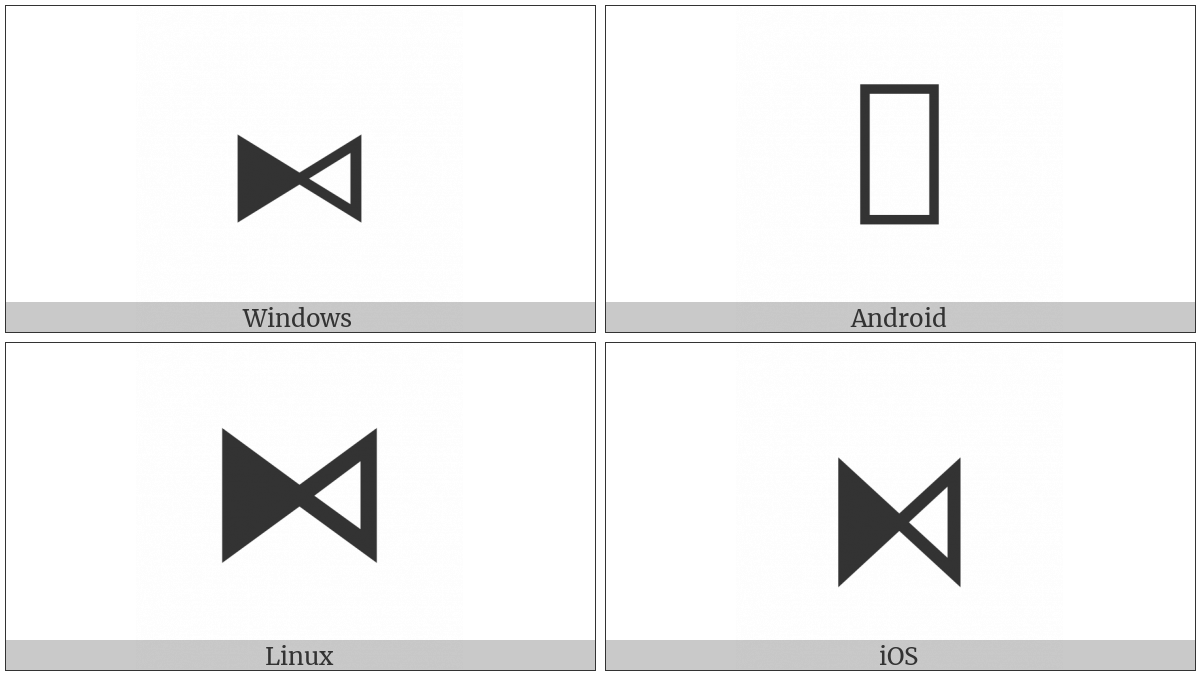 Bowtie With Left Half Black on various operating systems