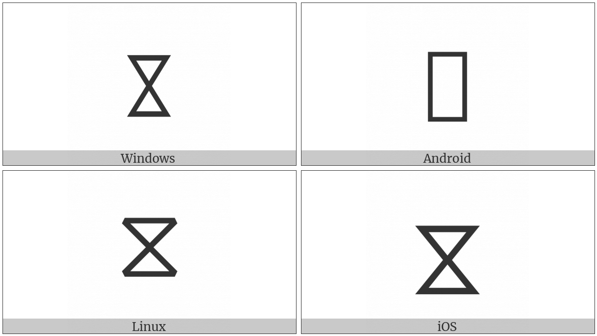 White Hourglass on various operating systems