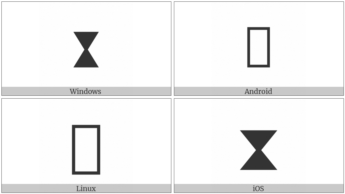 Black Hourglass on various operating systems