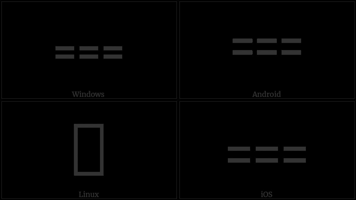 Three Consecutive Equals Signs Utf 8 Icons